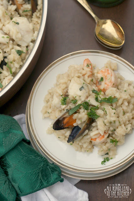 Mixed Seafood Risotto from All Roads Lead to the Kitchen