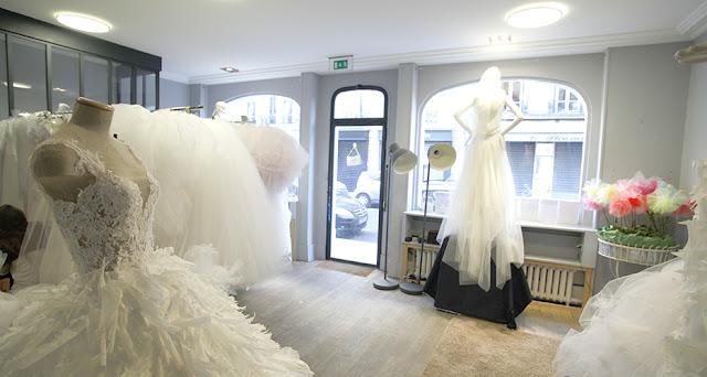 Loja de vestidos de noiva em Paris