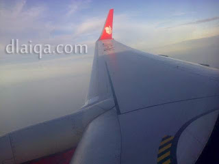 terbang menuju Lampung