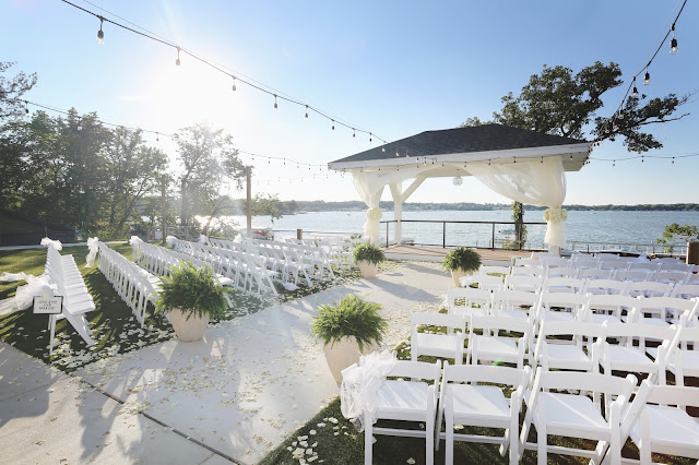 ceremony at waterfront event center okoboji