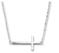 Kay Jewelers Sideways Cross Necklace Sterling Silver
