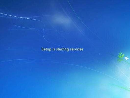 Setup Starting Windows 7