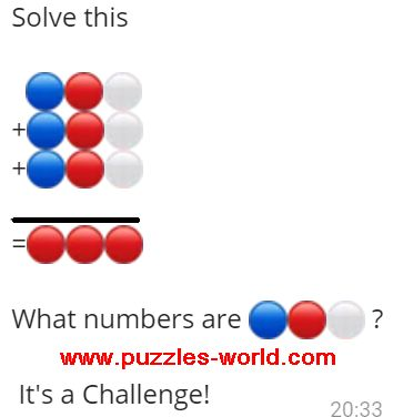 What numbers are 🔵🔴⚪ ?