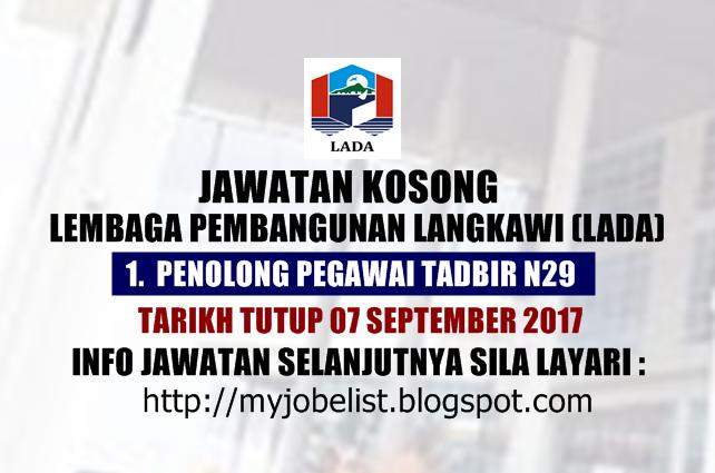 Jawatan Kosong di Lembaga Pembangunan Langkawi (LADA) - 07 September 2017