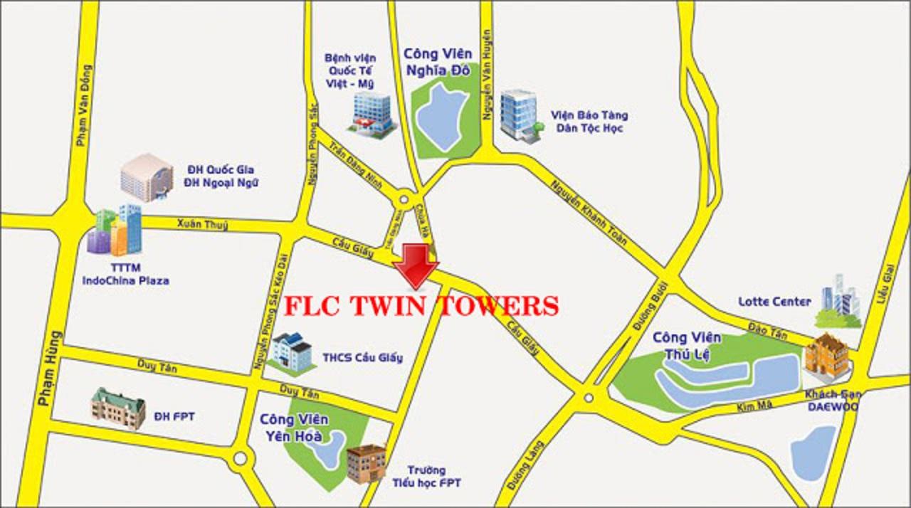 Vị Trí Chung Cư FLC Twin Towers