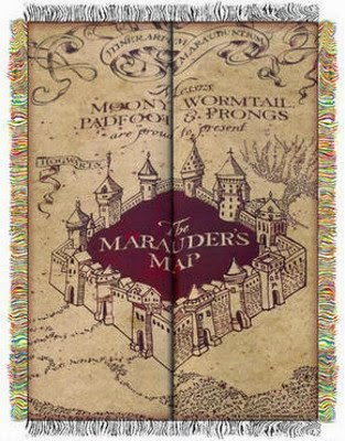 Harry Potter Marauder's Map Tapestry Throw