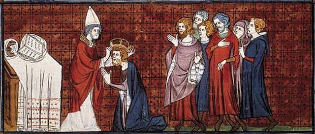 Carlos Magno coroado imperador pelo Papa Leão III
