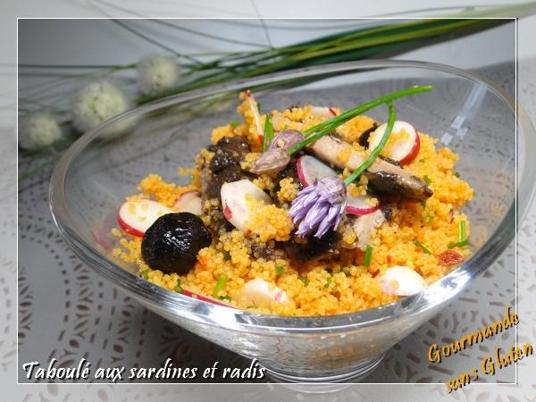 Taboulé aux sardines et radis