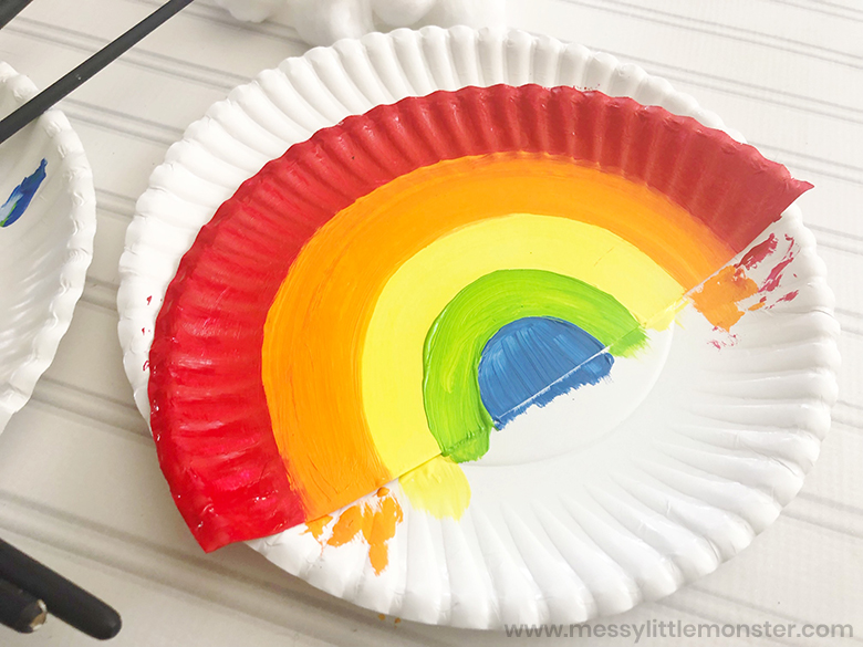 paper plate rainbow craft for toddlers
