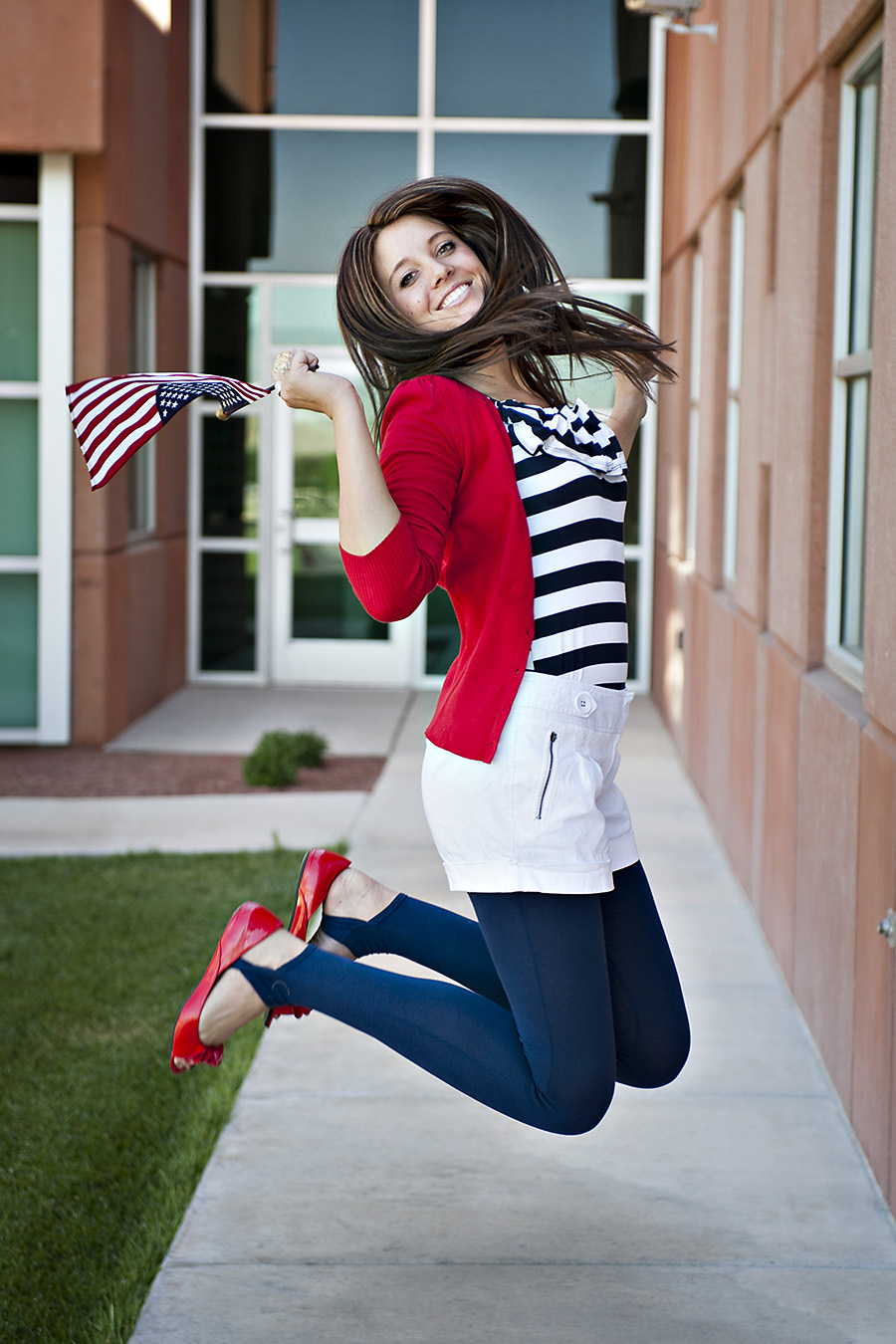 Utah Fashion Blogger, red white and blue, Modest Fashion