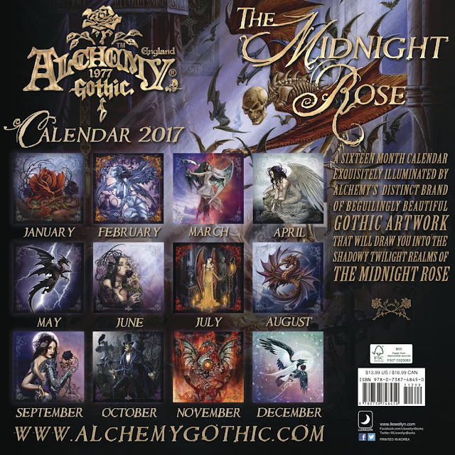 Three Beautiful Gothic Fantasy Art Wall Calendars For 2017