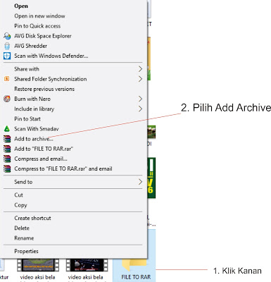 Cara Mengubah File Folder Menjadi WinRAR