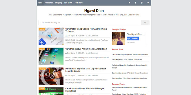 Nubie Banget blogger template redesign responsive