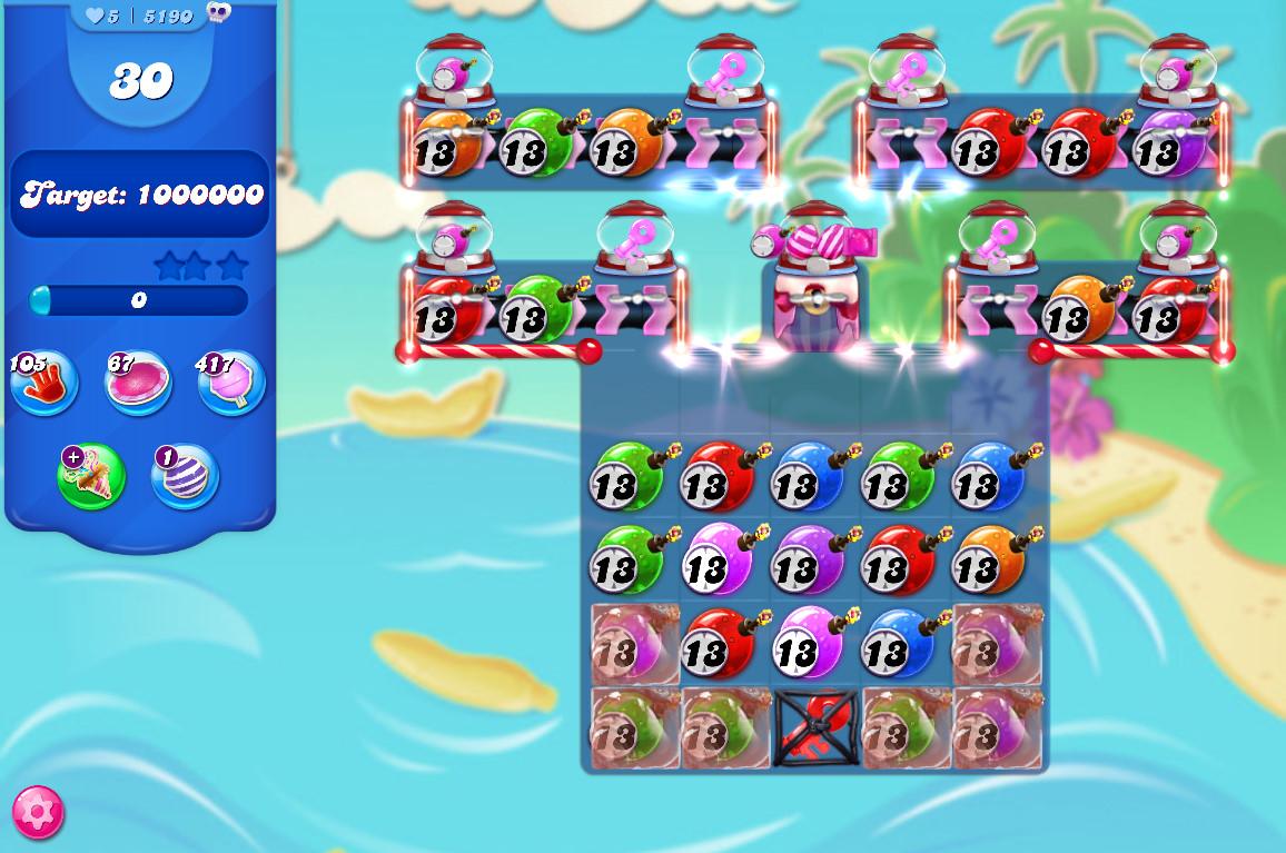 Candy Crush Saga level 5190