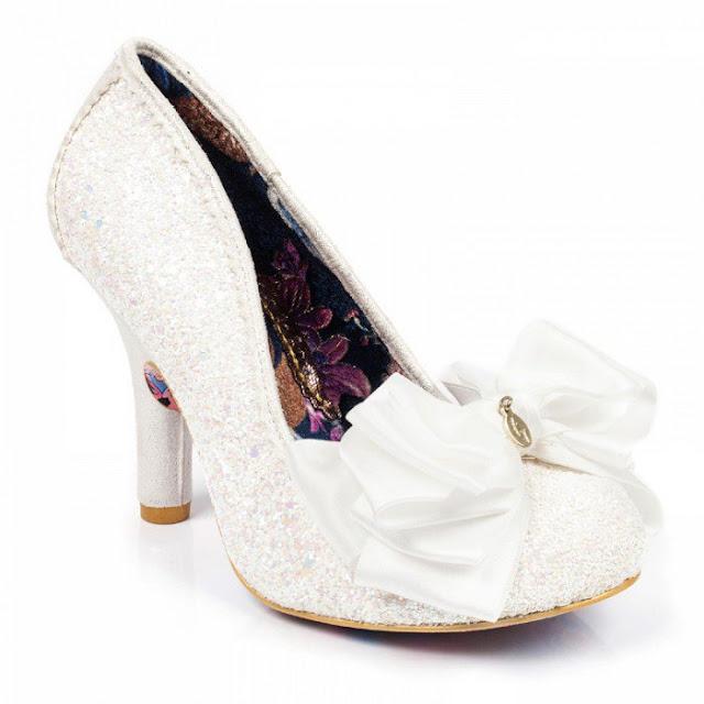 Irregular Choice White Wedding Shoes