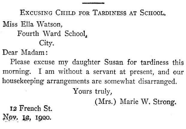 Sample Letter Tardiness School