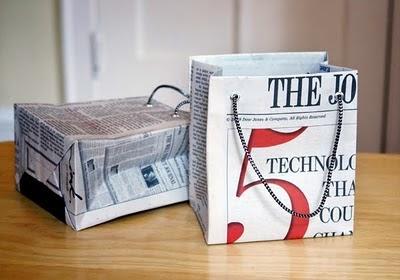 Kerajinan Tangan Dari Barang Bekas - Tas Koran Bekas 5
