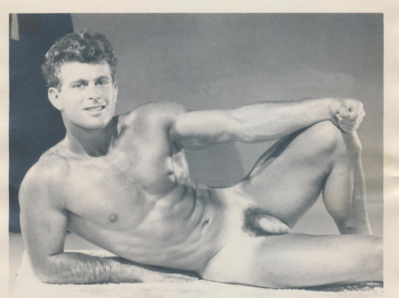Mature Content Handsome Male Nude Reclining Beefcake