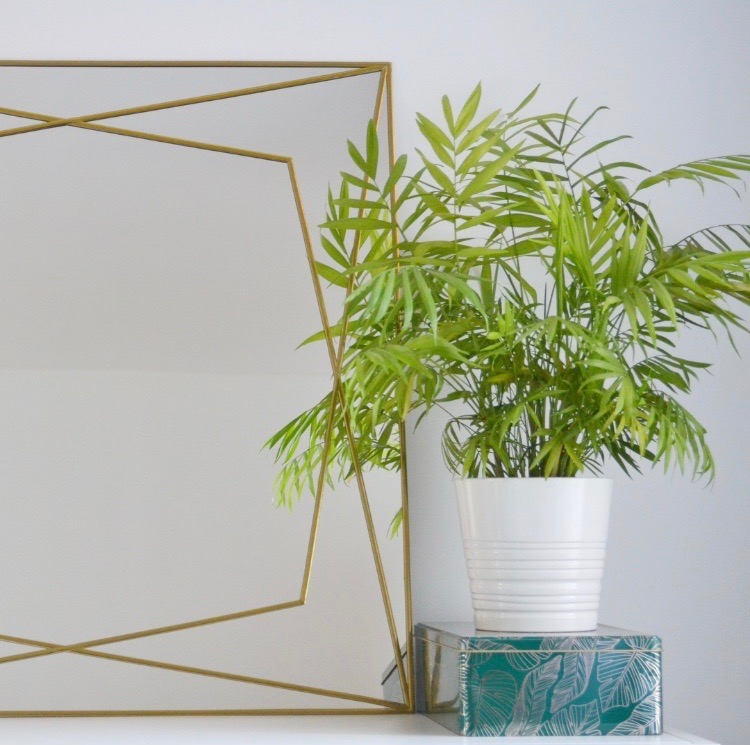 DIY Home Decor Large Gold Lead Trim Geometric Mirror