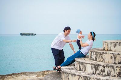 沖縄 ハーフバースデーフォト 海