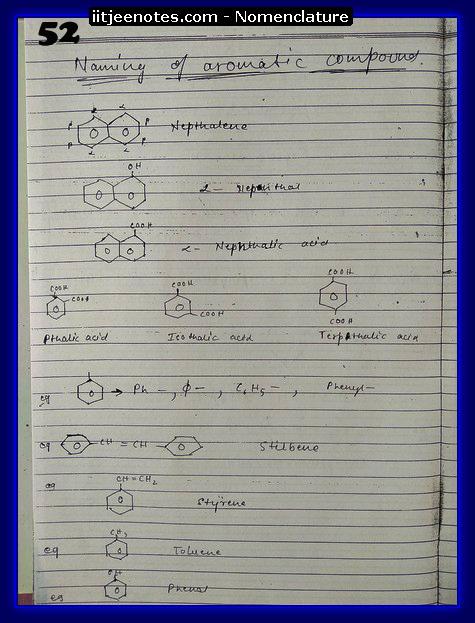 nomenclature organic9