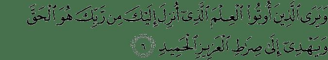 Surat Saba' Ayat 6
