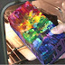 Man Creates Beautiful Rainbow Flower Vase By Melting Over 250 Crayons