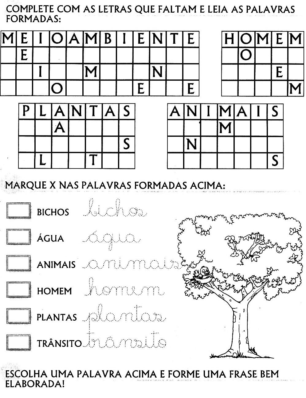 95 Atividades Educacao Infantil Meio Ambiente Ecologia Seres Vivos