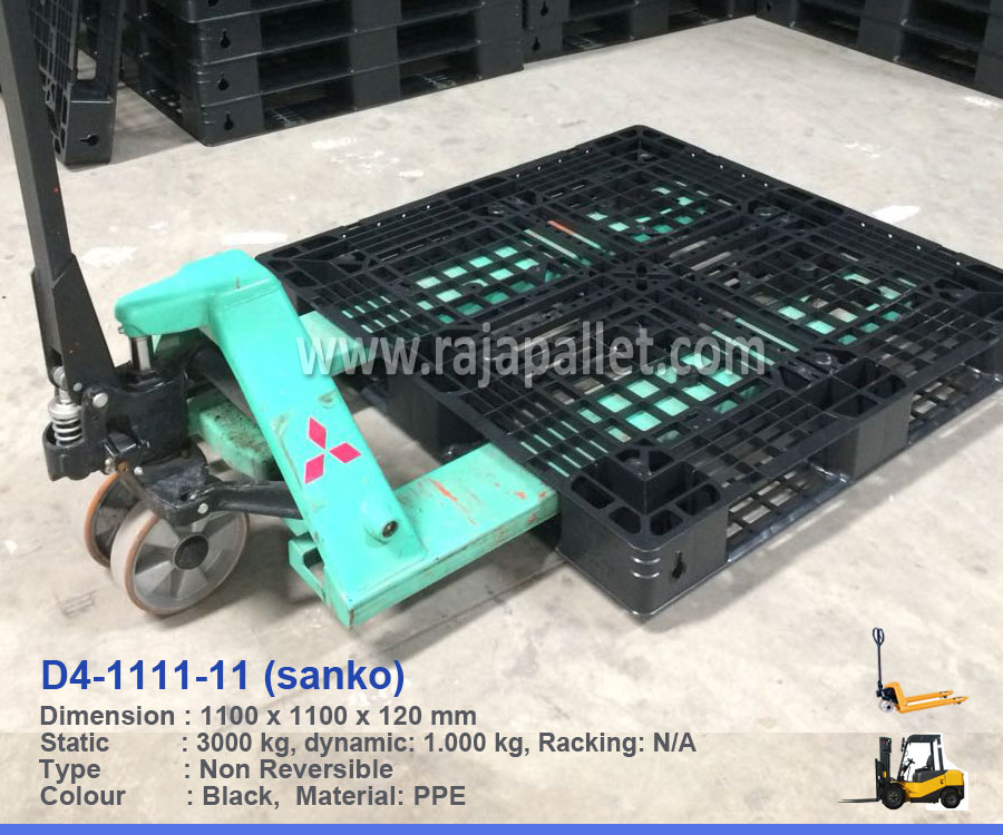 Pallet Plastik D4-1111-11 Sanko Ukuran 110 x 110 x 12 cm