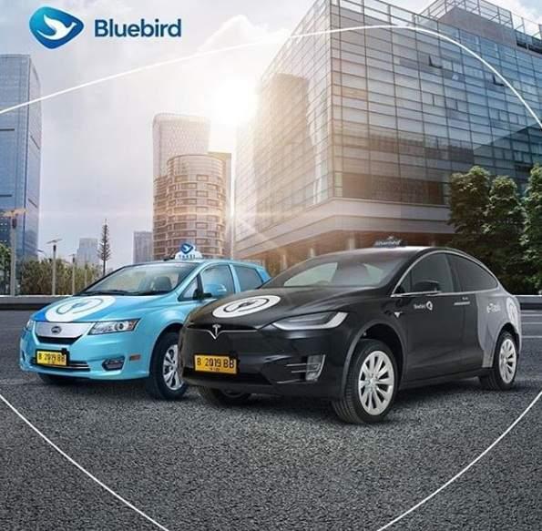 Armada Taxi Blue Bird pakai Mobil Listrik Tesla dan BYD