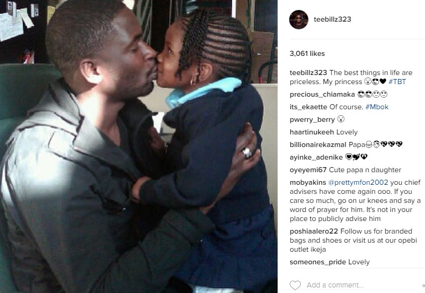 The most amazing feeling - Teebillz shares pictures of his two children
