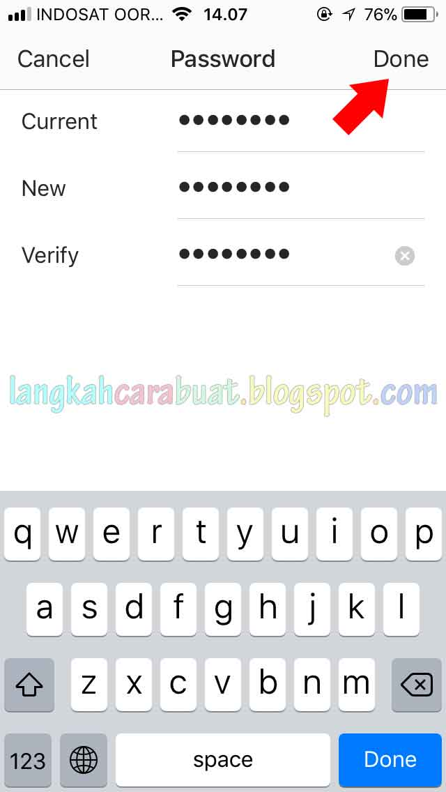 how to change the password for instagram