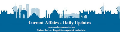 Current Affairs Update 8th April