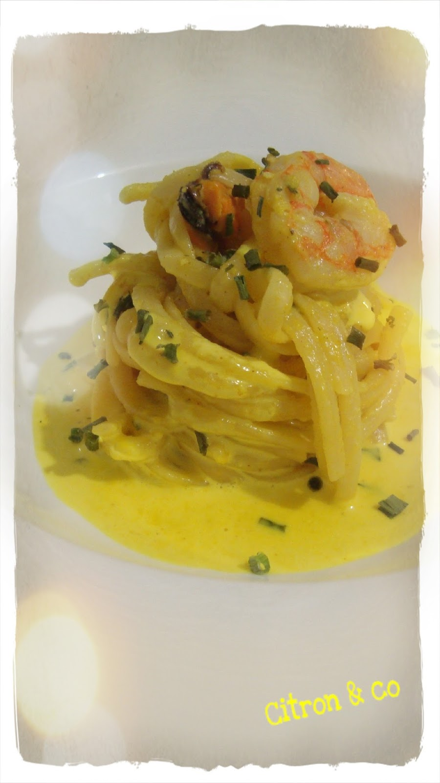 citron co spaghettis aux moules et crevettes. Black Bedroom Furniture Sets. Home Design Ideas