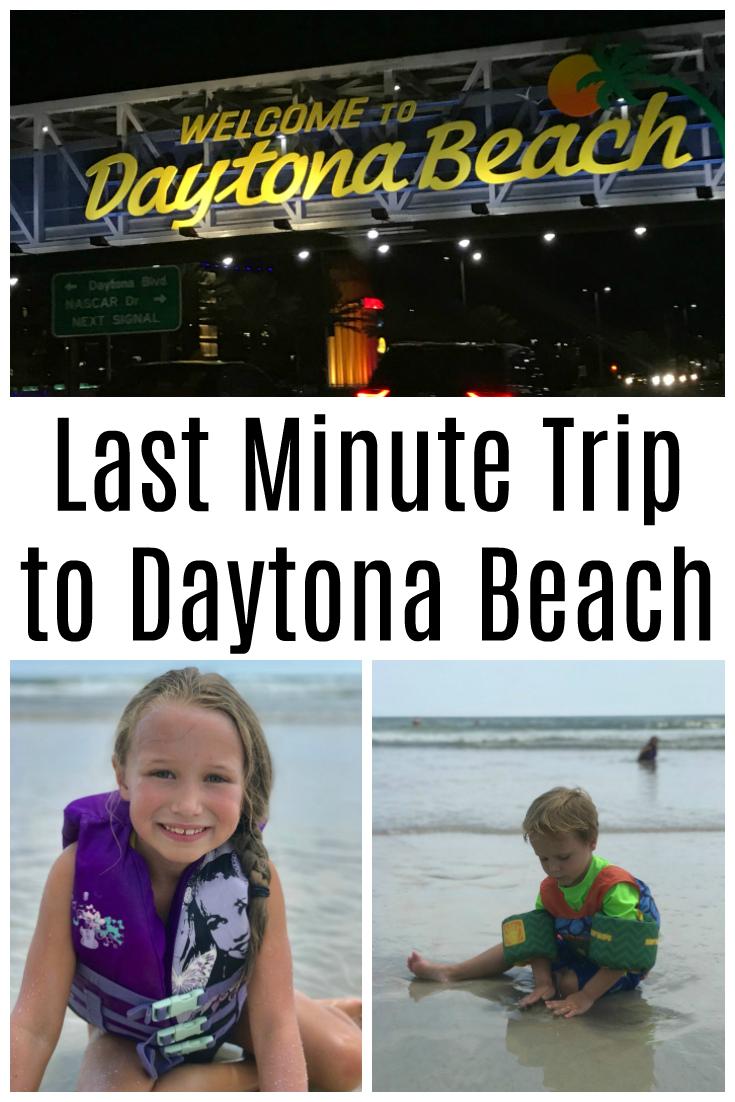 Last Minute Trip to Daytona with Kids