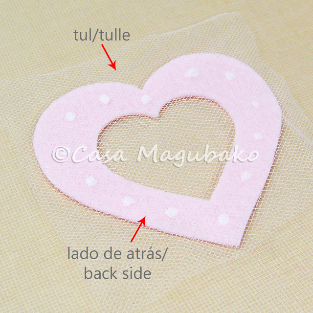 Heart Felt Case Tutorial - Attaching Tulle by casamagubako.com