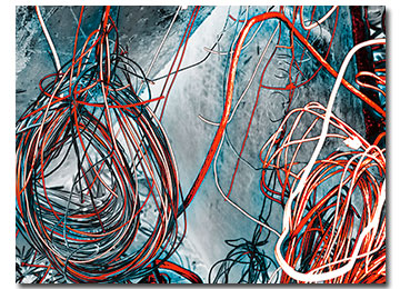 orange, blue, black and white, urban art, abstract art, urban photography, contemporary art, modern art, canvas art, wall art, Sam Freek,