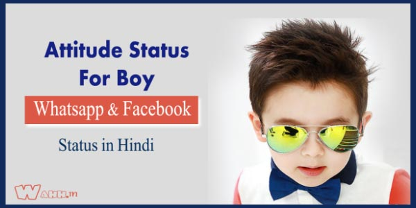 2017 Superb Attitude Status For Only Boys IN Hindi