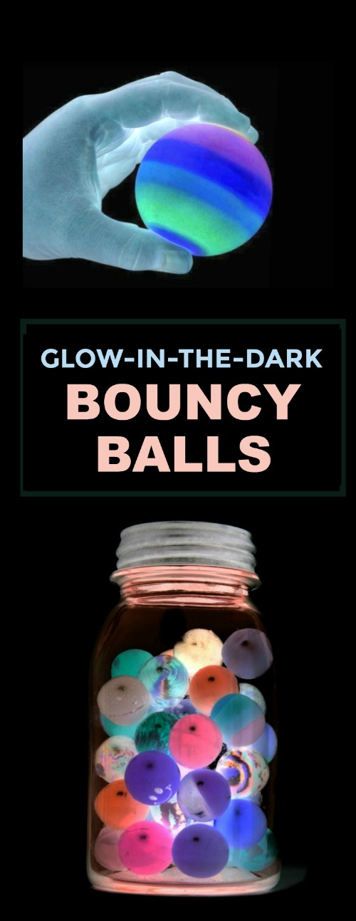 Make your own bouncy balls that GLOW-IN-THE-DARK.  OMG!  I can't wait to try this!