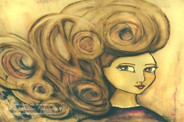 Paper Meadows Photography Blog-Editing a Mixed Media Girl from my Art Journal in Lightroom.