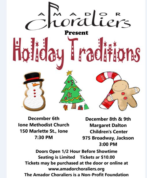 "Amador Choraliers: ""Holiday Traditions"" - Dec 6, 8 & 9"
