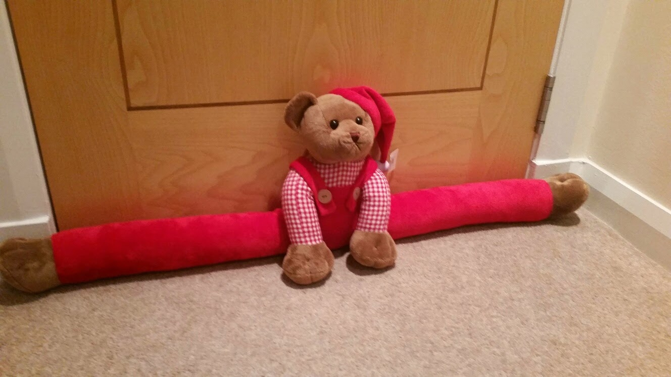 teddy bear draft excluder