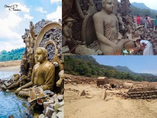 Buddhist temple at the Kotmale Reservoir Gossip Lanka Hot News in Sinhala