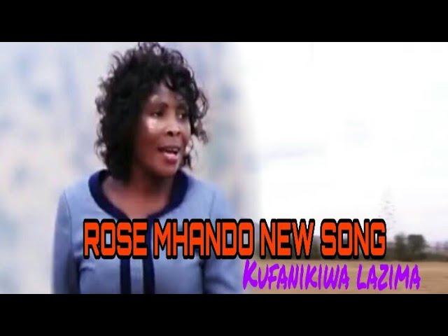 NEW AUDIO: ROSE MHANDO KUFANIKIWA NI LAZIMA (official audio)