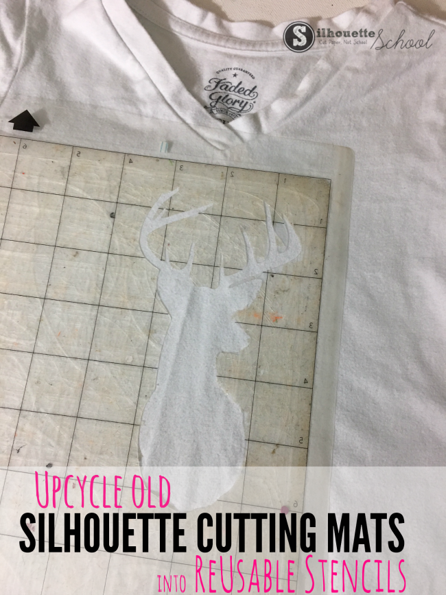old silhouette cutting mats, upcycle crafts, reusable stencil material silhouette