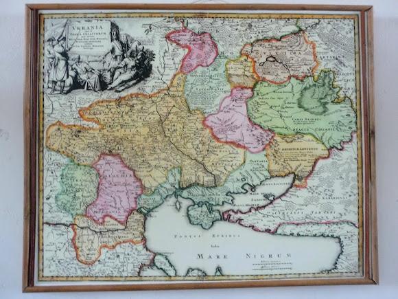 Золочев. Большой дворец. Музей. Казацкая карта Украины