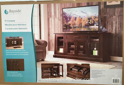 Costco 947730 - Bayside Furnishings Brockport TV Console: stylish, practical, and great for any living room