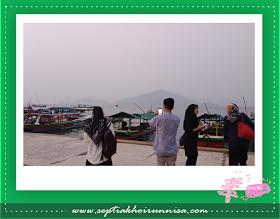 Udara Pagi di Dermaga Ketapang Lampung Selatan masih berkabut