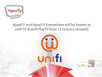 HyppTV will be known as unifi TV from 12 January onwards