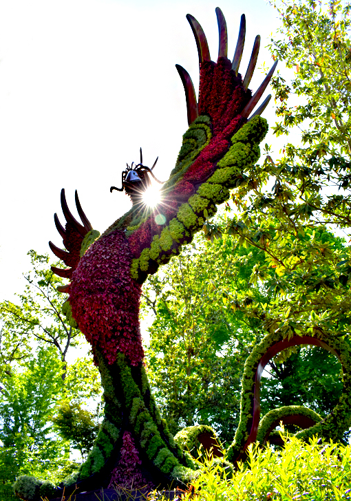 Phoenix | Imaginary Worlds | Atlanta Botanical Garden | Photo: Travis S. Taylor